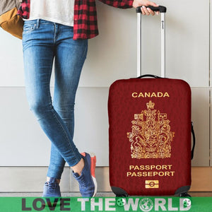 CANADA PASSPORT RED LUGGAGE COVER - BN