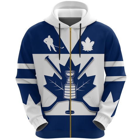 Image of Canada Hockey Maple Leaf Champion Zip Up Hoodie | Clothing | Toronto Maple Leafs