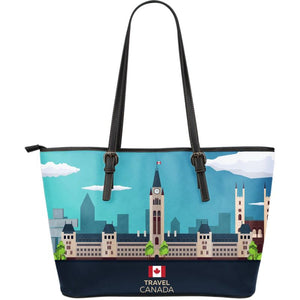 Canada Travel Large Leather Tote Bag 05 S1 Totes