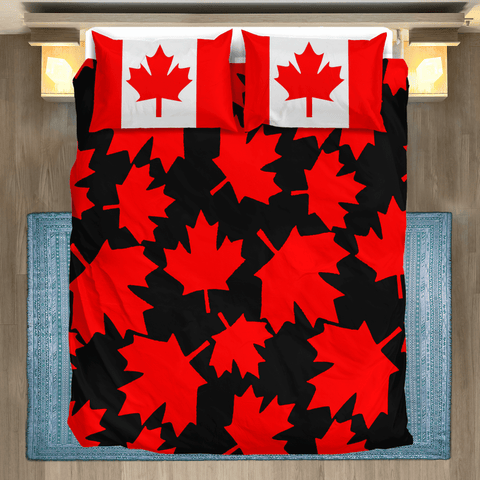 Image of Canada Maple Leaf Bedding Set A9