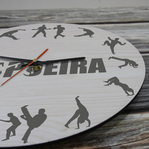 Capoeria Wooden Wall Clock J2