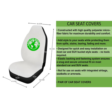 Image of Scotland Car Seat Covers (Set Of 2) - Drive Safe A6