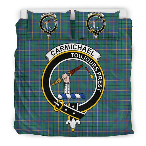 Carmichael Ancient Clan Badge Tartan Bedding Set C19 Bedding Set - Beige / King Sets