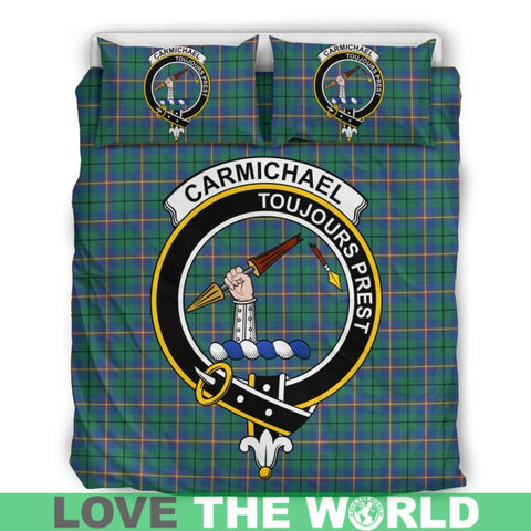 Carmichael Ancient Tartan Clan Badge Bedding Set C19 Bedding Set - Beige / King Sets