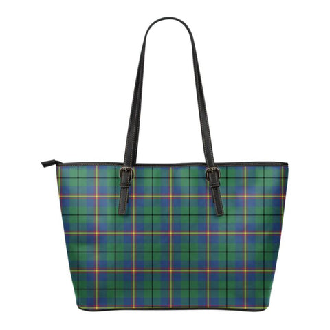Carmichael Ancient Tartan  Small Leather Tote Bag Nn5 |Bags| Love The World