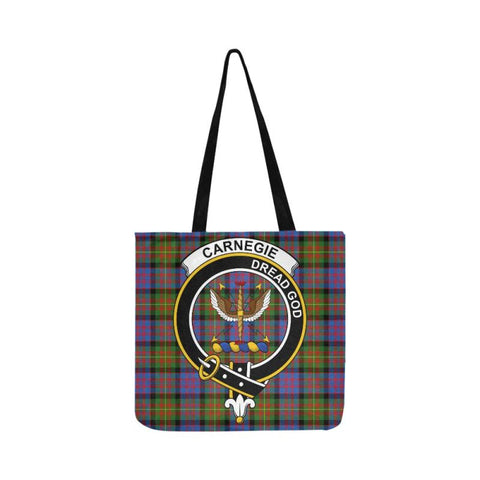 Carnegie Ancient Clan Badge Tartan Reusable Shopping Bag - Hb1 Bags