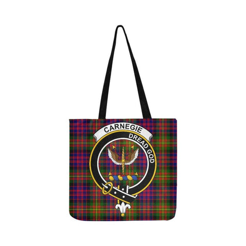 Carnegie Modern Clan Badge Tartan Reusable Shopping Bag - Hb1 Bags