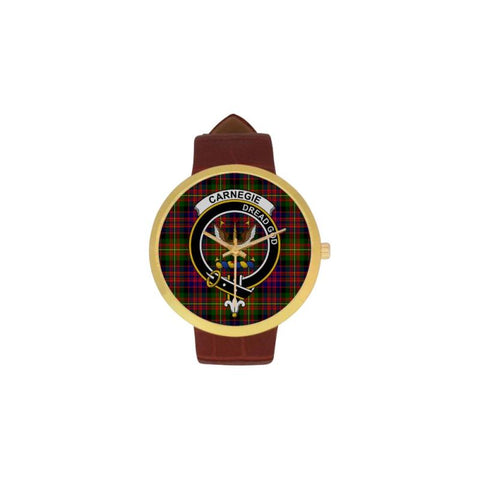 Image of Carnegie Modern Clan Badge Tartan Watch Nn5 |Accessories| Love The World