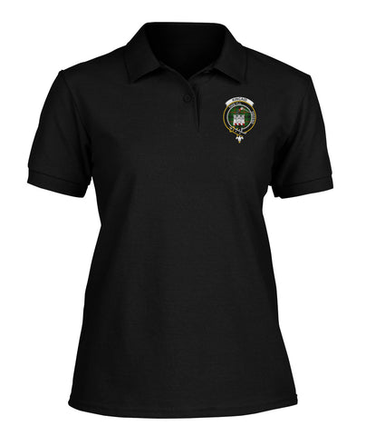 Kincaid Badge Women Tartan Polo Shirt | Over 300 Clans Tartan | Special Custom Design | Love Scotland