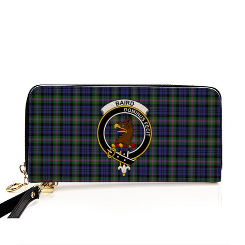 BAIRD  TARTAN CLAN BADGE ZIPPER WALLET HJ4