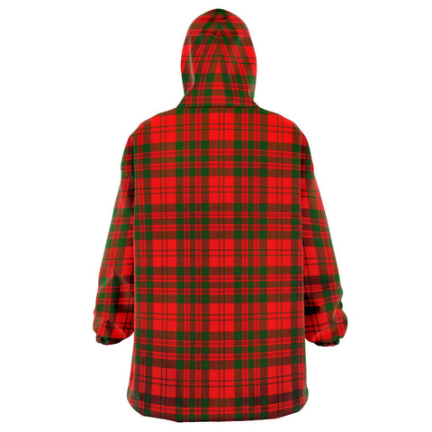 Image of Livingstone Modern Snug Hoodie - Unisex Tartan Plaid Back