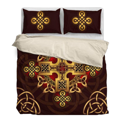 The Celtic Cross Bedding Set Black/White NN8
