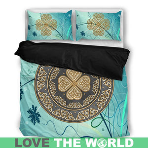 Wonderful Four-Leaf Clover Celtic Bedding Set Q1
