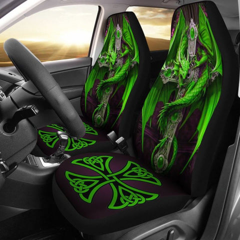 Celtic Dragon Cross Car Seat Covers O4