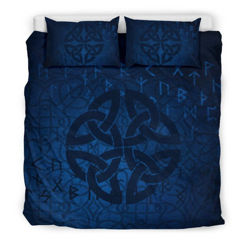 Celtic Knot Patterns Bedding Set - Ro7 Bedding Set Beige Beige / King Sets