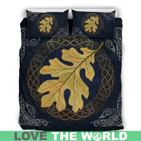 Celtic Oak Leaf, viking bedding set, viking duvet cover, celtic bedding set, celtic duvet cover