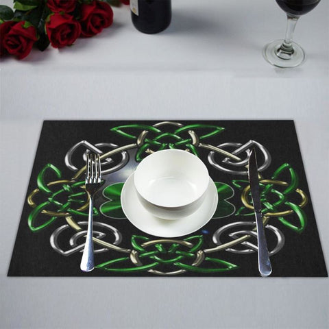 Celtic Shamrock Placemat O4 One Size Placemats