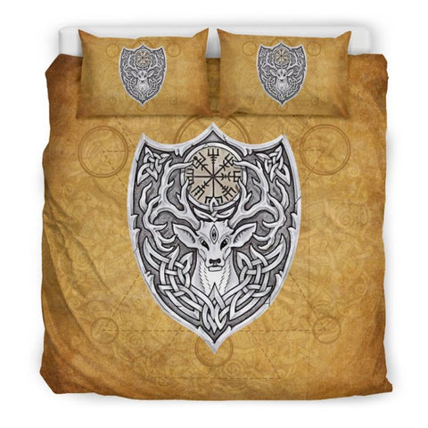 Celtic Stag Bedding Set - Tk1 Bedding Set Black Celtic Stag / King Sets