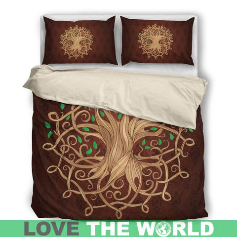 Image of Celtic Tree Bedding Set Q1 Bedding Set - Black 01 / Twin Sets
