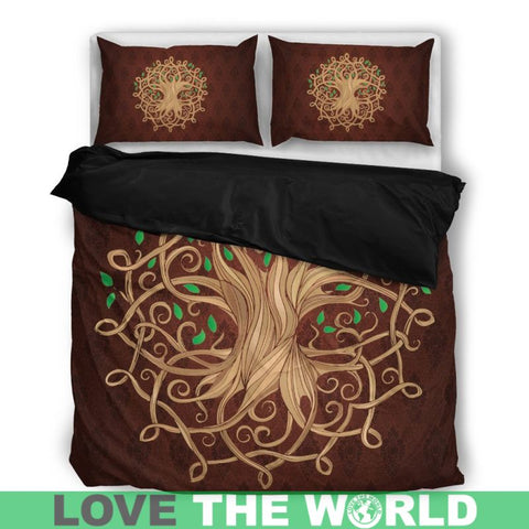 Celtic Tree Bedding Set Q1 Bedding Set - Black 01 / Twin Sets