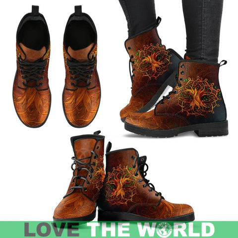 Celtic Tree Boot (Mens / Womens) Q1 Mens Leather Boots - Black Us5 (Eu38) Leather Boots