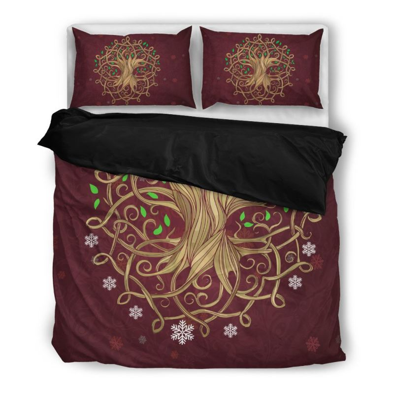 Twin Christmas Bedding Sets.Celtic Tree Christmas Bedding Set Q1