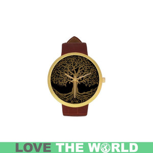 CELTIC TREE GOLDEN AND SILVER LUXURY WATCH TH7