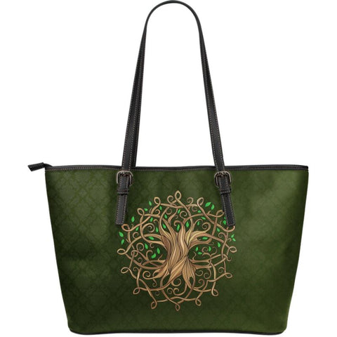 Celtic Tree Large Leather Tote Q1 Totes