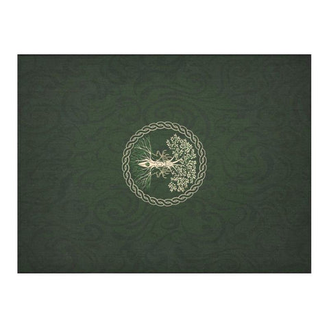 Celtic Tree Linen Tablecloth H4 One Size / Cotton Linen Tablecloth 52X 70 Cotton Tablecloths