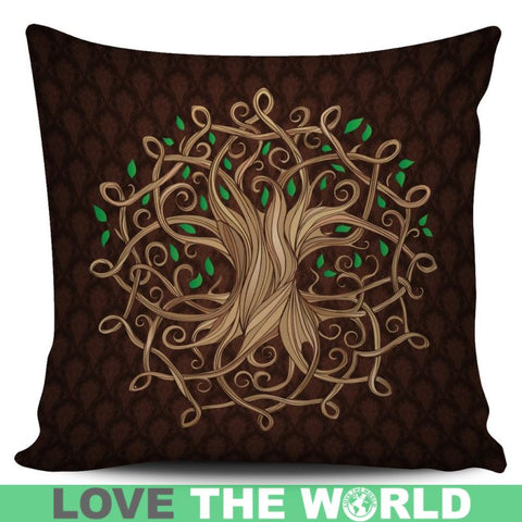 Celtic Tree Pillow Cover Q1 Green Pillows