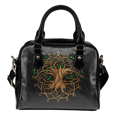 Celtic Tree Shoulder Handbag Q1 Handbags