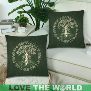 Celtic Tree Zippered Pillow Cover H4
