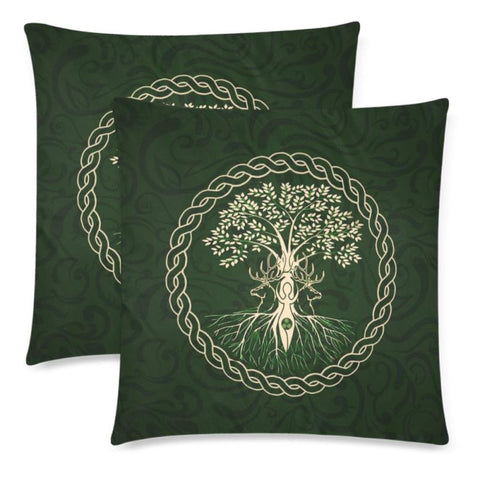 Celtic Tree Zippered Pillow Cases H4 Pillows