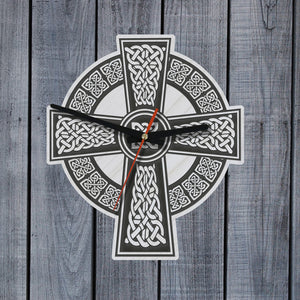 celtic wall clock, celtic clock, wooden wall clock, home decor, online shopping, 1sttheworld