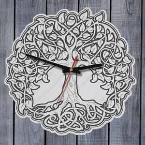 celtic, celtic tree, home decor, celtic wall clock, wooden wall clock, online shopping, 1sttheworld, celtic tree of life