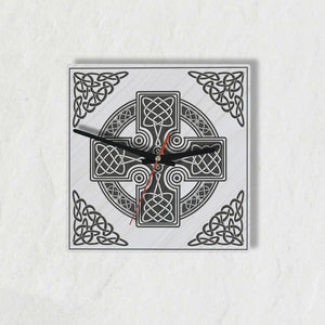 celtic cross, celtic clock, wooden wall clock, 1sttheworld, online shopping, home decor