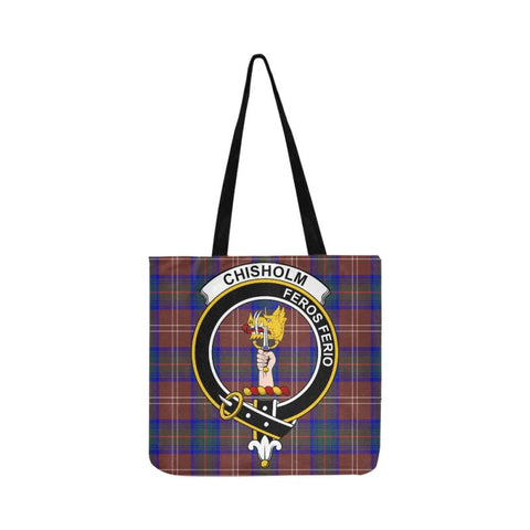 Chisholm Hunting Modern Clan Badge Tartan Reusable Shopping Bag - Hb1 Bags