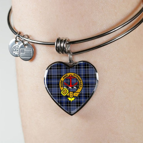 Clark Tartan Silver Bangle - Sd1 Jewelries