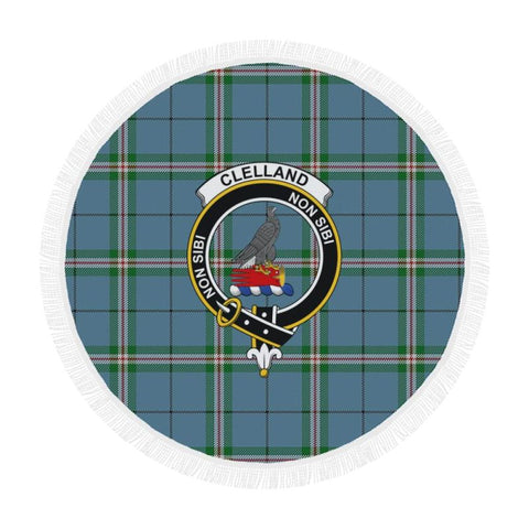 Image of Clelland Modern Clan Badge Tartan Circular Shawl C11 Shawls