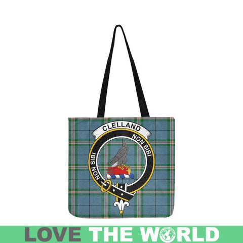 Clelland Modern Clan Badge Tartan Reusable Shopping Bag - Hb1 Bags