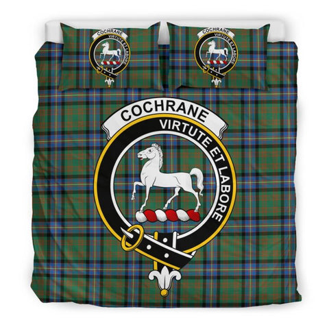 Cochrane Ancient Clan Badge Tartan Bedding Set C19 Bedding Set - Beige / King Sets