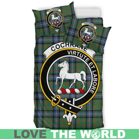 Cochrane Ancient Tartan Clan Badge Bedding Set C19 Bedding Set - Beige / King Sets