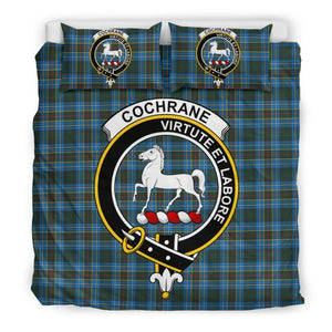 Cochrane Modern Clan Badge Tartan Bedding Set C19 Bedding Set - Beige / King Sets