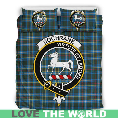Cochrane Modern Tartan Clan Badge Bedding Set C19 Bedding Set - Beige / King Sets