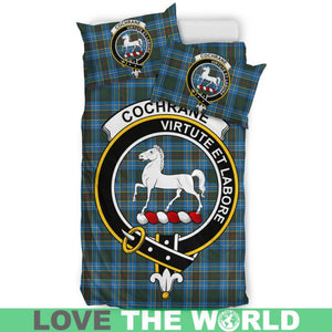 Cochrane Modern Clan Badge Tartan Bedding Set K5
