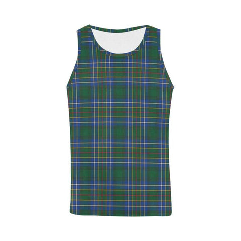 Cockburn Ancient Tartan All Over Print Tank Top Nl25 Xs / Men Tops