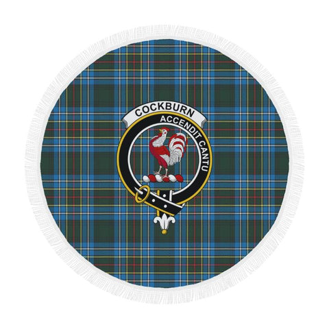 Cockburn Modern Clan Badge Tartan Circular Shawl C11 Shawls