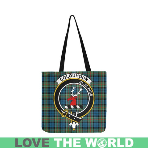 Image of Colquhoun Ancient Clan Badge Tartan Reusable Shopping Bag - Hb1 Bags