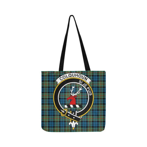 Colquhoun Ancient Clan Badge Tartan Reusable Shopping Bag - Hb1 Bags