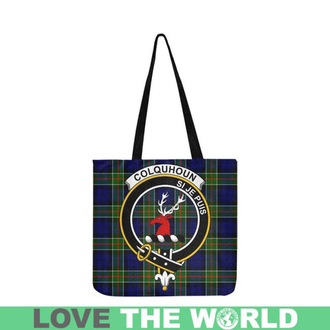 Colquhoun Modern Clan Badge Tartan Reusable Shopping Bag - Hb1 Bags